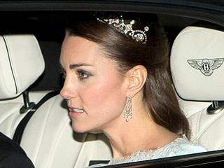 Kate Sparkles in Stunning Tiara on Night Out with William