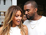 Kim Kardashian and Kanye West Se