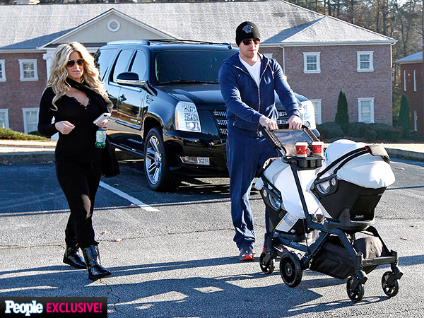 Kim Zolciak Steps Out with Newborn Twins| Babies, Real Housewives of Atlanta, Kim Zolciak