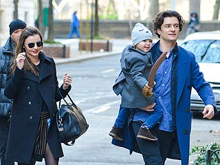 PHOTOS: Orlando Bloom and Miranda Kerr Reunite in N.Y.C. with Son Flynn