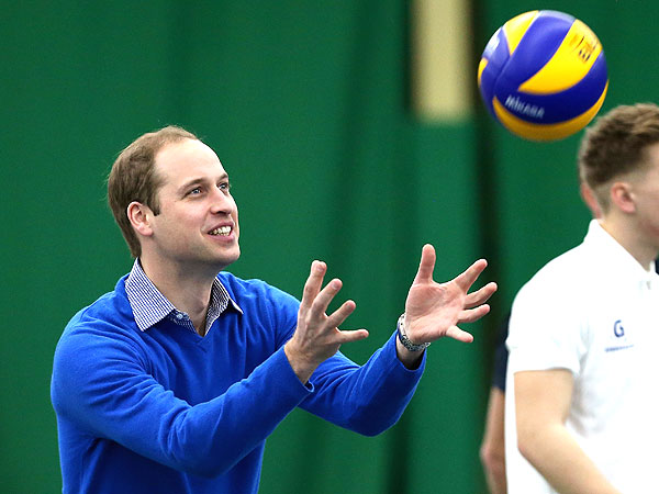 VIDEO: Prince William Is a Royally Good Sport in Volleyball Drills