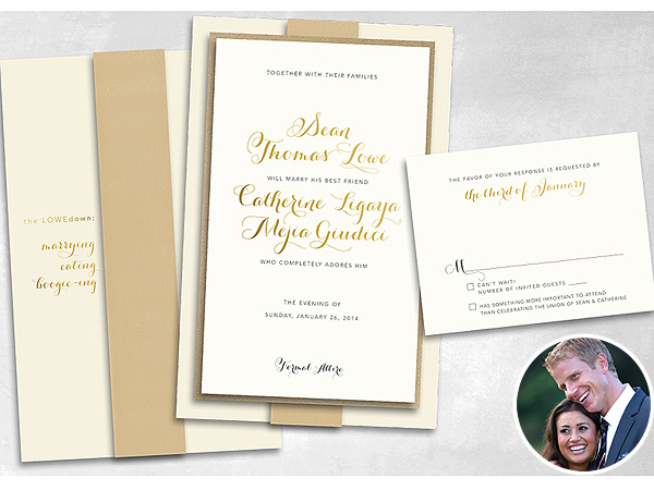 See Sean Lowe & Catherine Giudici's Cute Wedding Invitation