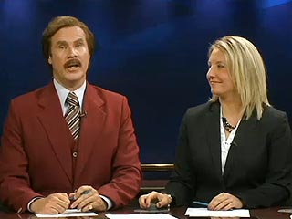 VIDEO: Ron Burgundy Anchors a Real Live Newscast