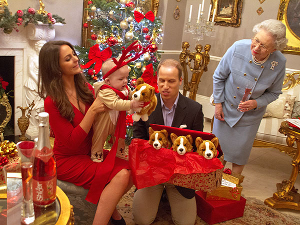 Prince George as a Reindeer! Imagining William & Kate's First Christmas as Parents| Christmas, The British Royals, The Royals, Camilla, Duchess of Cornwall, Kate Middleton, Prince Charles, Prince George, Prince Harry, Prince William, Queen Elizabeth II