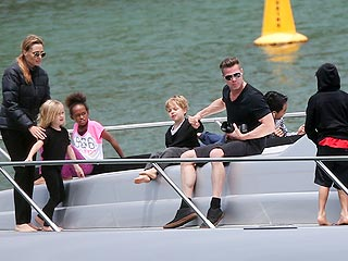 Angelina Jolie and Brad Pitt Reunite in High Style in Sydney Harbor
