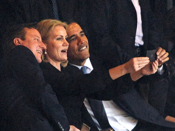 President Obama Poses for World Leaders Selfie at Mandela Memorial