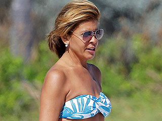 Hoda Kotb Heats Up Miami in Blue and White Bikini