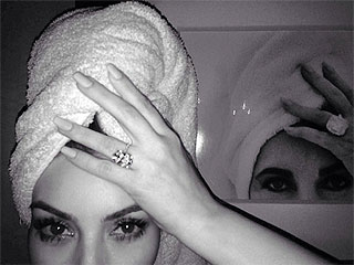 PHOTO: Kim Kardashian Channels Elizabeth Taylor in Instagram Selfie