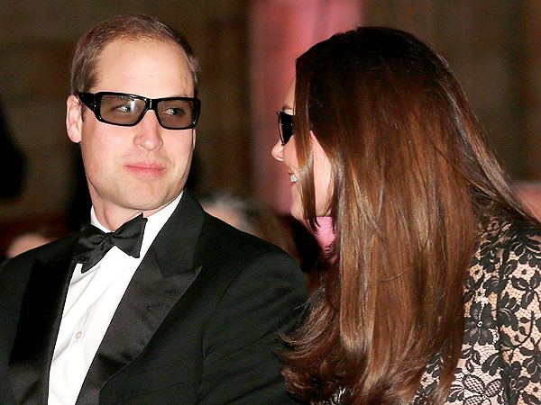 Kate and William Sport 3D Glasses for Wildlife Film