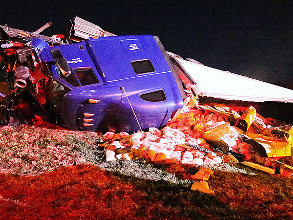 Ham Jam: Georgia Tractor-Trailer Crash Spills 40,000 Pounds of Ham