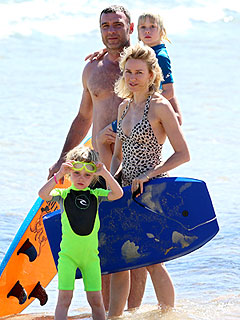 Beach Babes! Naomi Watts, Liev Schreiber & Sons Splash Around in Australia
