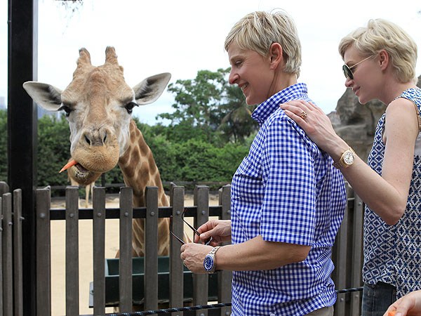 Ellen DeGeneres & Portia de Rossi Mingle with Aussie Animals| Exotic Animals & Pets, Zoo Animals, Ellen DeGeneres, Portia de Rossi