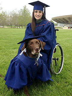 The Daily Treat: Student Graduates Alongside Her Service Dog in Matching Cap and Gowns