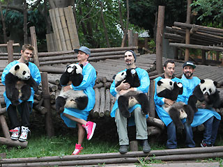 PHOTO: Backstreet's Back – with Panda Cubs!