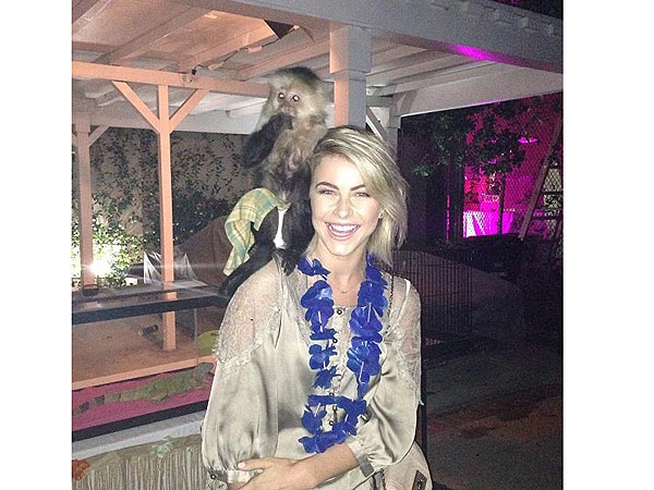 Julianne Hough with Capuchin Monkey, Photo