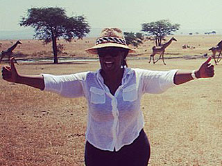 PHOTOS: Oprah Goes On Safari in the Serengeti