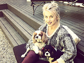 The Daily Treat: Julianne Hough Gets in the Fall Spirit with Her Dogs