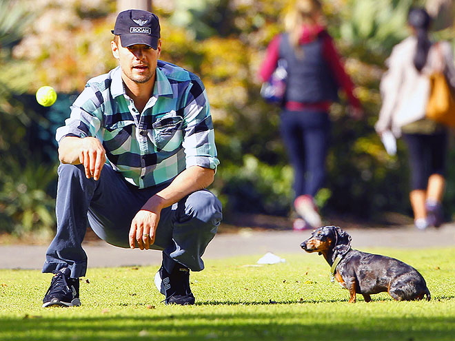 Stars and Their Pets: Josh Duhamel's Ball Boy