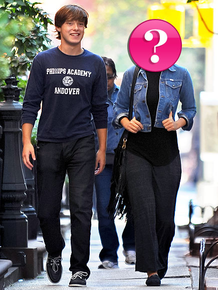 Which actress has been spotted with her cute younger brother around New York?