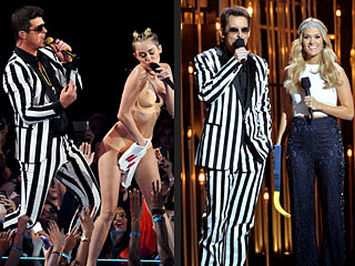 The CMAs vs. the VMAs: What's the Difference? | Brad Paisley, Carrie Underwood, Miley Cyrus, Robin Thicke