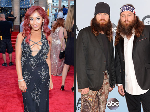 How to Tell the Difference Between the CMAs & the VMAs| Country Music Association Awards, Blurred Lines, Duck Dynasty, Jersey Shore, 'N Sync, Austin Mahone, Hunter Hayes, Lauren Alaina, Miley Cyrus, Nicole Polizzi, Robin Thicke, Scotty McCreery, Taylor Swift