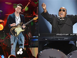 John Mayer vs. Stevie Wonder: Who Was Your Favorite ACM Crasher? | John Mayer, Stevie Wonder