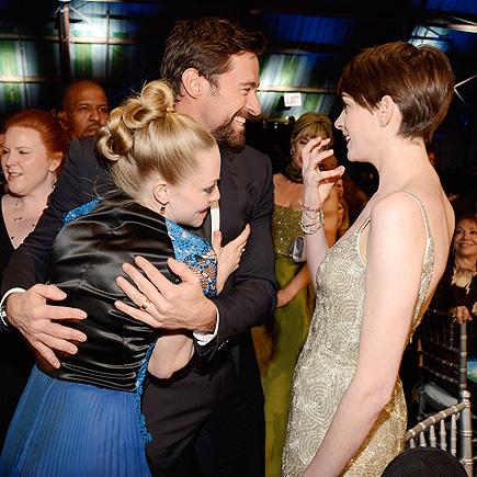 TRIPLE DELIGHT photo | Amanda Seyfried, Anne Hathaway, Hugh Jackman