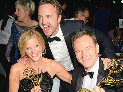 Emmys 2013: Party Time! | Aaron Paul, Anna Gunn, Bryan Cranston