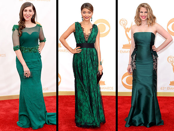 Emmy Awards 2013 green dresses