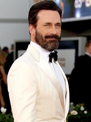 Jon Hamm beard Emmys 2013