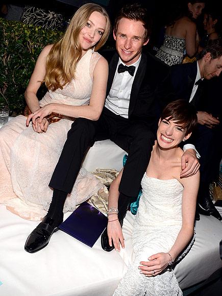 IN THE HOT SEAT photo | Amanda Seyfried, Anne Hathaway, Eddie Redmayne