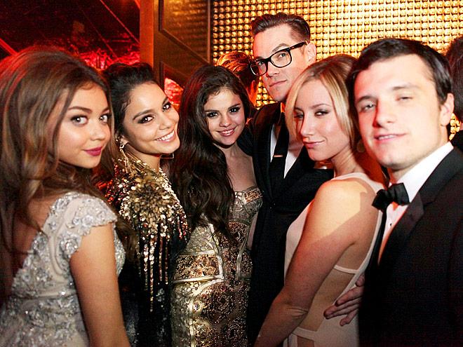 WHO'S THE MAN?  photo | Ashley Tisdale, Josh Hutcherson, Sarah Hyland, Selena Gomez, Vanessa Hudgens