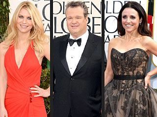 Chocolate! Pushups! Leaky Boobs! The Best of the Golden Globes Red Carpet | Claire Danes, Julia Louis-Dreyfus