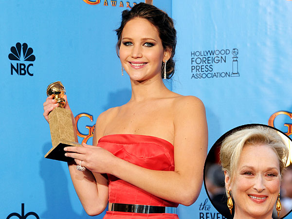 Golden Globes: Jennifer Lawrence Wins, Makes Meryl Streep Joke