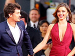 What Problems? Miranda & Orlando Look Fab on Globes Carpet | Miranda Kerr, Orlando Bloom
