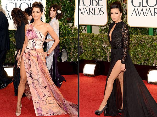Halle Berry, Eva Longoria 2013 Golden Globes