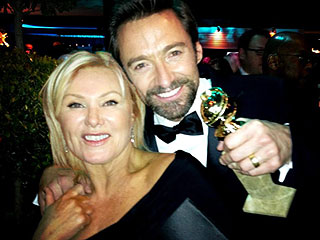 Snapped! Stars Share Their Own Globes Photos | Hugh Jackman