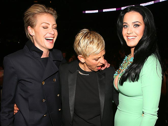 BREAST OF FRIENDS? photo | Ellen DeGeneres, Katy Perry