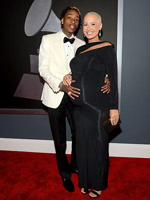 Amber Rose Wiz Khalifa Grammy Awards 2013