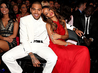 Rihanna & Chris Brown Cuddle Together at the Grammys | Chris Brown, Rihanna
