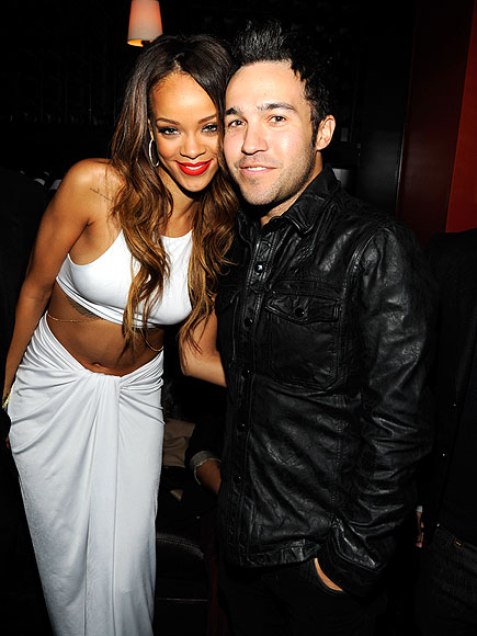 FACE TIME photo | Pete Wentz, Rihanna