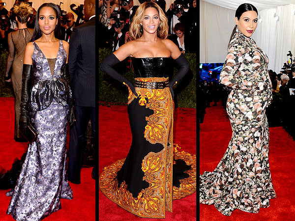 Beyonce Kerry Washington gloves Met Gala 2013