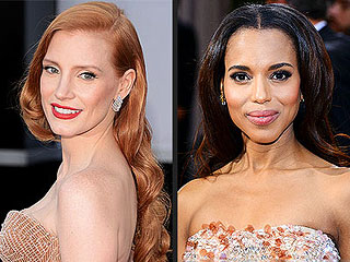 Oscars 2013: The Best Hair and Makeup | Jessica Chastain