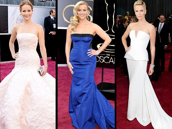 Oscar Dresses: Jennifer Lawrence, Kristen Stewart, Best Gowns and Hair