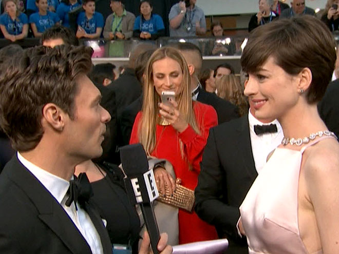 photo | Anne Hathaway, Ryan Seacrest