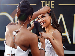 Stars Primp & Prep at the Oscars | Zoe Saldana