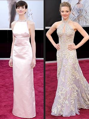 Oscars 2013 Anne Hathaway Amanda Seyfried Gowns