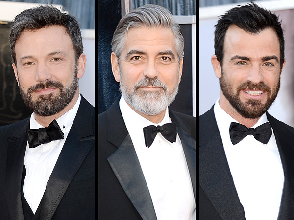 George Clooney Ben Affleck beards