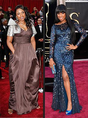 Jennifer Hudson Oscars 2013 & 2007