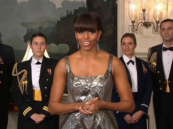 Michelle Obama Oscars Gown